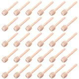 30 PCS Mini Wood Honey Dipper Sticks, 3 Inch Server for Honey Jar Dispense Drizzle Honey