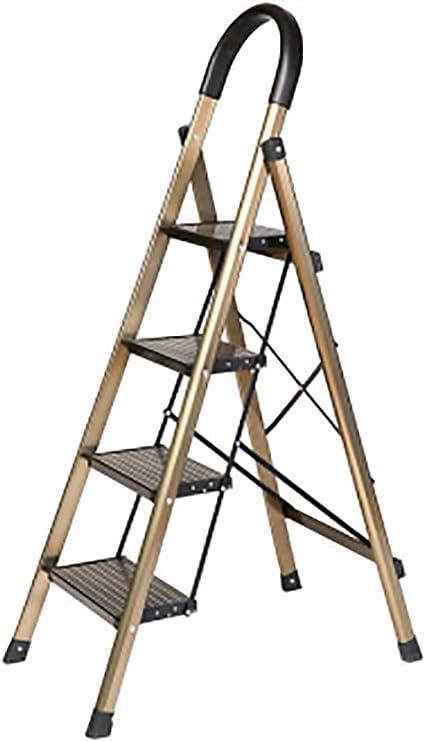 Aluminio Aleación Paso 4 Escalera,plegables Escalera Portátil Anti-slip Escaleras De Mano Ligero Multi-propósito Para El Hogar Cocina Oficina Almacén -a: Amazon.es: Bricolaje y herramientas