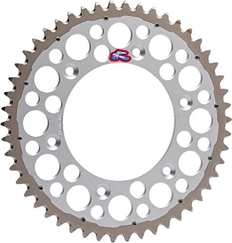 Renthal 1500-520-48GPSI Twinring Silver 48 Tooth Rear Sprocket (Sprocket Tooth Wheel Rear)