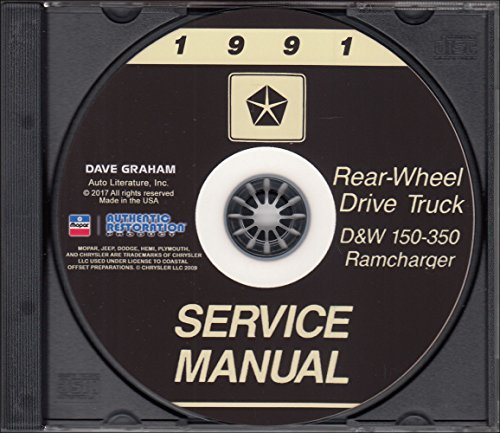 1991-Dodge-Truck-Shop-Manual-CD-D150-D350-Pickup-Ramcharger-W150-W350-Gas-Diesel
