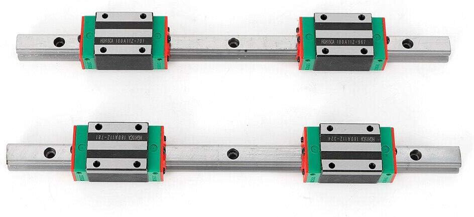 RANZIX - Guías lineales (2 unidades, 15-300 mm, con bloque para ...