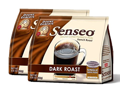 Senseo Dark Roast Coffee Pods - (Pack of 2),2x18 (Senseo Dark Roast)