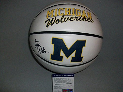 MICHIGAN-WOLVERINES-STEVE-FISHER-signed-autographed-BASKETBALL-COA-PSADNA-Certified-Autographed-College-Basketballs