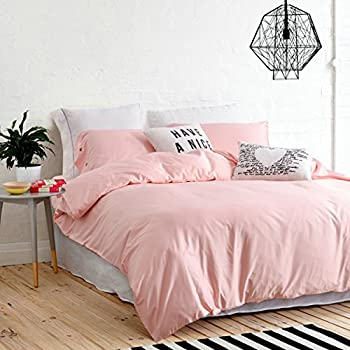 UFO Home 300 Thread Count 100% Cotton Sateen Light Pink Solid Color Pretty  Girly Type