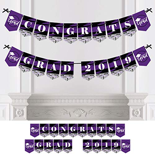 Purple Grad - Best is Yet to Come - Purple Graduation Party Bunting Banner - Party Decorations - Congrats Grad 2019 -