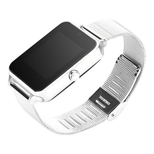 (HJuyYuah Smart Watch Phone Pedometer Sedentary Remind Sleep Monitor Remote Camera SL Silver)