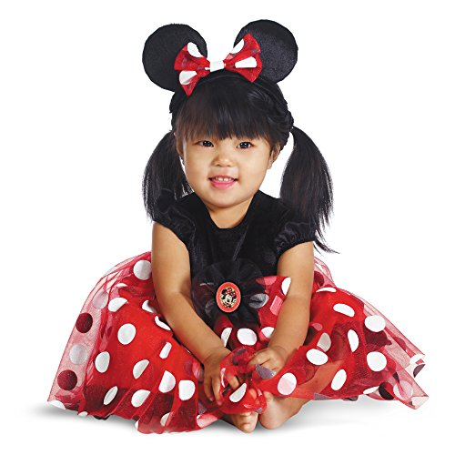 [Red Minnie Mouse Costume - Baby 6-12] (Female Mickey Mouse Costumes)