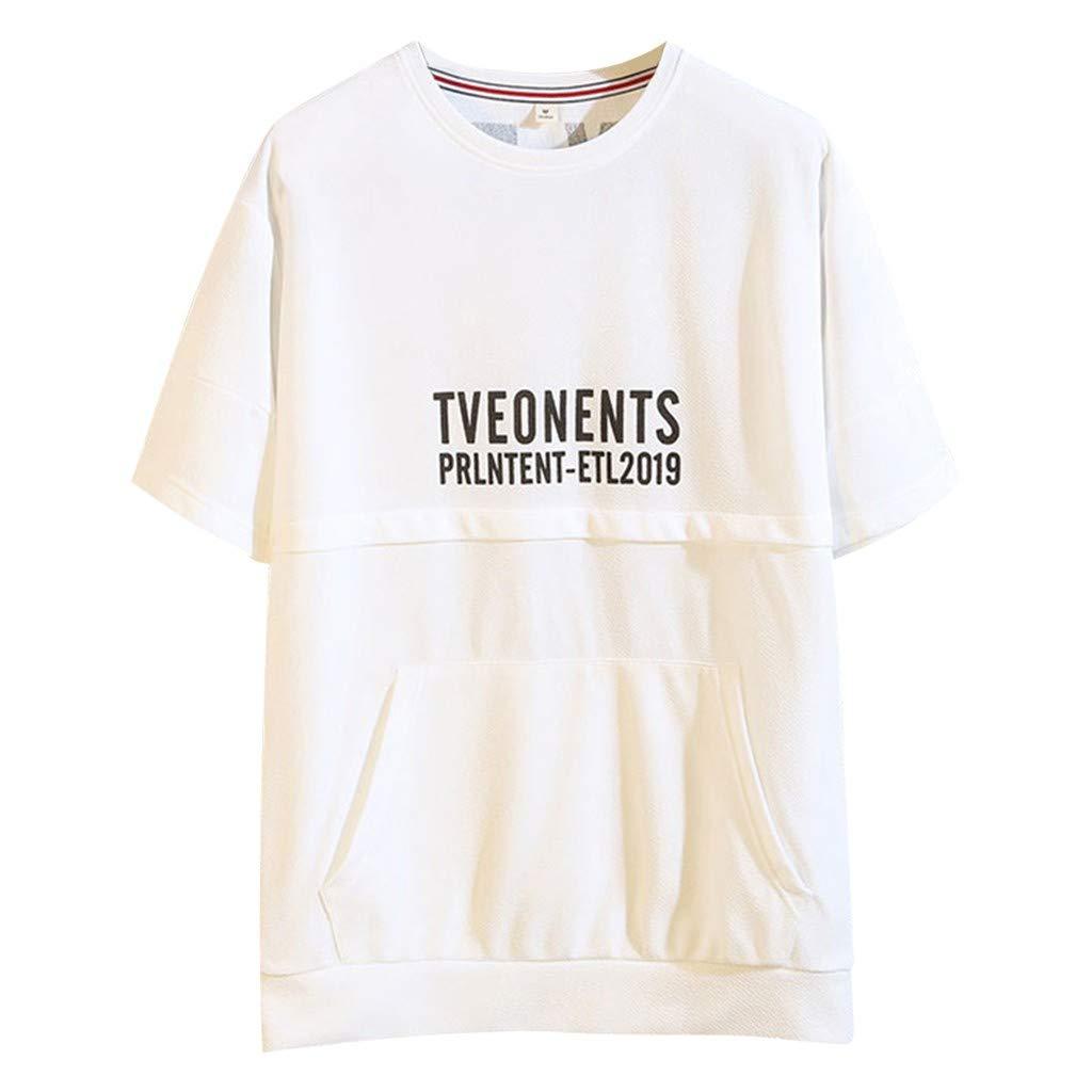 Camisetas hombre Tops T shirt 2019 NEW Manera corta impresa ...