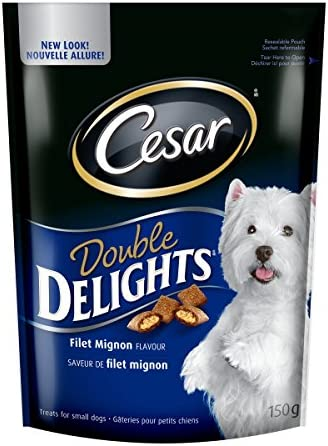 [Amazon.ca] Cesar Double Delights Treats for Dogs – Filet Mignon – 150g (Pack of 10)