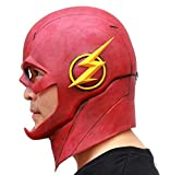 WELLIN Costume The Flash Man Mask , Latex Halloween Funny Masquerade Prop Justice
