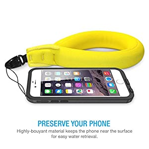 Waterproof Camera Float , TETHYS [Buoyance Series] Waterproof Float Strap for Underwater Camera and Waterproof Life Pouch Case - Universal Floating Wristband/Hand Grip Lanyard Works with GoPro, Nikon, Canon, Sony,Pentax,Camcorders,Panasonic, Keys and Sunglass -[ Yellow]