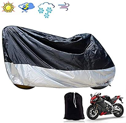 Motorcycle Cover M Waterproof Anti Dust Rust Rain UV All Weather Motorbike Protection Shelter with Lock-Holes