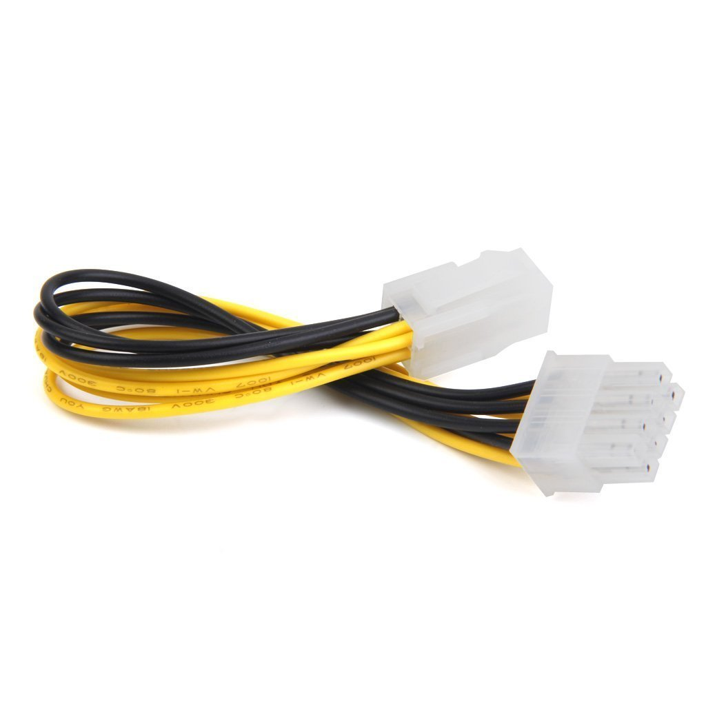 SODIAL(R) ATX 4 Pin Male - EPS 8 Pin Female Power Cable Adapter CPU Power