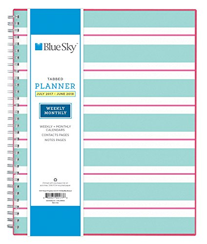 "Blue Sky 2017-2018 Academic Year Weekly & Monthly Planner, Twin-Wire Bound, 8.5"" x 11"", Capistrano"