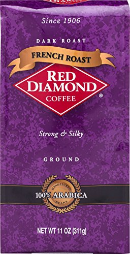 Red Diamond French Roast Ground Coffee, 11 Ounce Resealable Bag