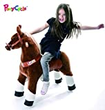 Ponycycle Ride On Brown Horse by Smart Gear - 3-5 years - The World's First Simulated Riding Toy based on the child's own power - No Batteries. No Electric. Just FUN! by Smart Gear