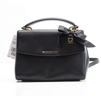 cf0e2a62ac12 Amazon.com: MICHAEL Michael Kors Ava Small Top Handle Leather Satchel Black:  Shoes