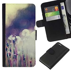 KLONGSHOP // Tirón de la caja Cartera de cuero con ranuras para tarjetas - Planta Naturaleza Forrest Flor 59 - Apple Iphone 5C //