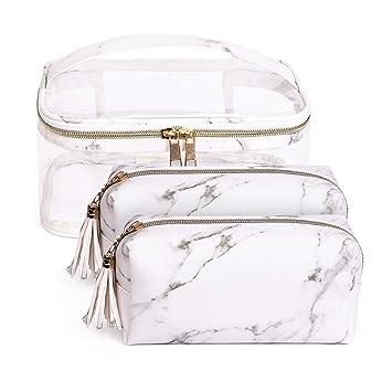 Amazon.com: Juego de 3 bolsas de maquillaje impermeables y ...
