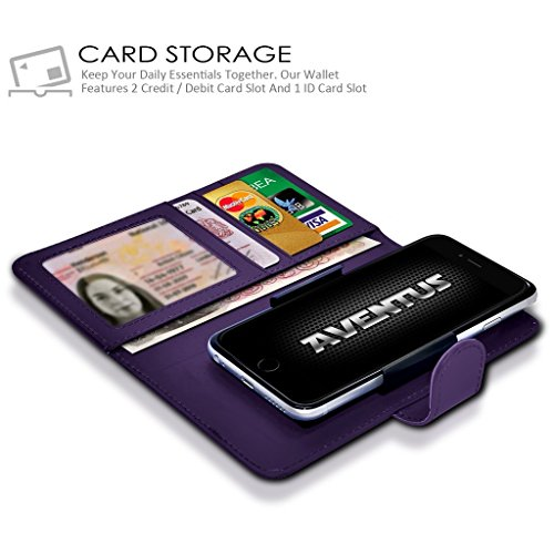 Card Green Wallet Aventus Holder Banknotes Pocket Camera Purple with Universal Grand 5 Slot PU HD Spring Case Case Dark Clamp BLU 5 Clamp Wallet Slide Premium Leather and Uqpqwrd