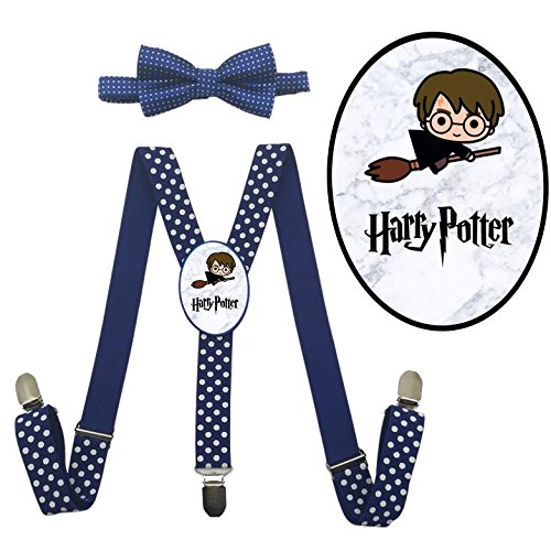 LSL Cute Harry potter Suspender+Bow Tie/Unisex Suspender/Adjustable Suspender (Harry Potter Party Costume Ideas)
