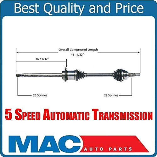 (Front Passenger Side CV Shaft Axle for Nissan Quest 04-09 5 Speed)