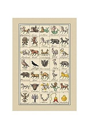 Amazon Com Buyenlarge Heraldic Symbols Sagittarius Spinx