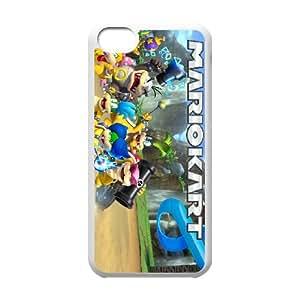 iPhone 5c Cell Phone Case White Mario Kart 8 Vxdcj