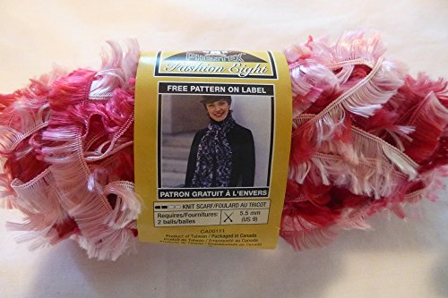 Phentex Fashion Eight Eyelash Yarn - Baby Pinks (Pink and Red)