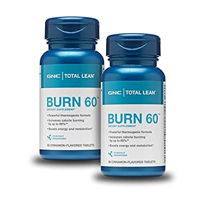 GNC Total Lean Burn 60 - Cinnamon Flavored Twin Pack