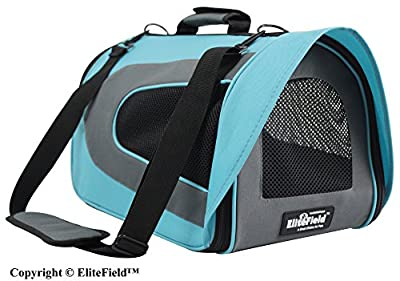 EliteField Deluxe Soft Pet Carrier (3 Year Warranty, Airline Approved), Multiple Sizes and Colors Available for Cats and Small Dogs from EliteField