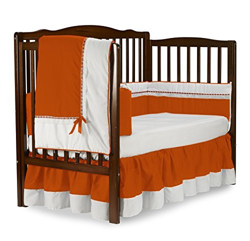 Baby Doll Bedding Royal Crib Bedding Set, Orange [並行輸入品]   B07GFKGF1L