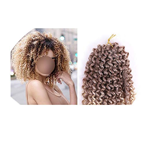 Kinky Curly Ombre hair Crochet braids marley Synthetic Braiding Hair Extensions for any women 8inch 30g/pc,Ombre,8 inch,3Pcs ()