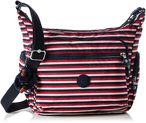 Kipling Gabbie, Bolso Bandolera para Mujer, 35.5x30x18.5 cm (W x H x L) Varios colores (Sugar Stripes)