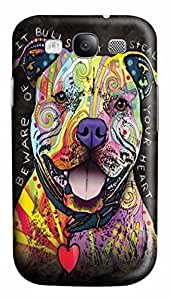 Beware of Pit Bulls Custom Samsung Galaxy S3 I9300 Case Cover Polycarbonate