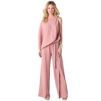 4c05b436105f Amazon.com: Sunward Women Sexy Womens Jumpsuits Elegant Button Loose Long  Wide Leg Jumpsuits Romper: Clothing