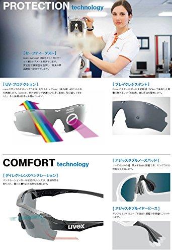 UVEX sportstyle 104 lunettes de sport pour adulte Noir - Noir mat