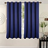 Ottomanson Blackout Grommet Curtain (2 Panels), 52″ x 63″, Royal Blue, 2 Piece For Sale