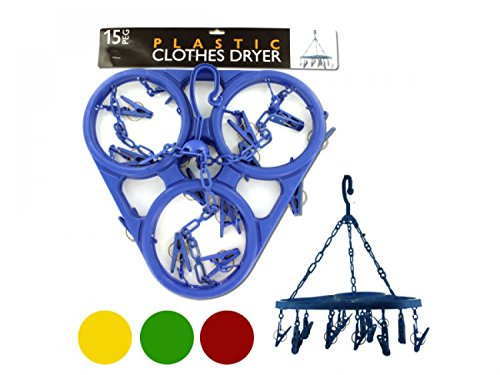 bulk buys Jumbo Hanging Clothes Dryer - Set of 18,