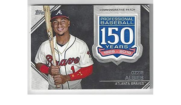 Amazoncom Ozzie Albies Commemorative Patch Baseball Card