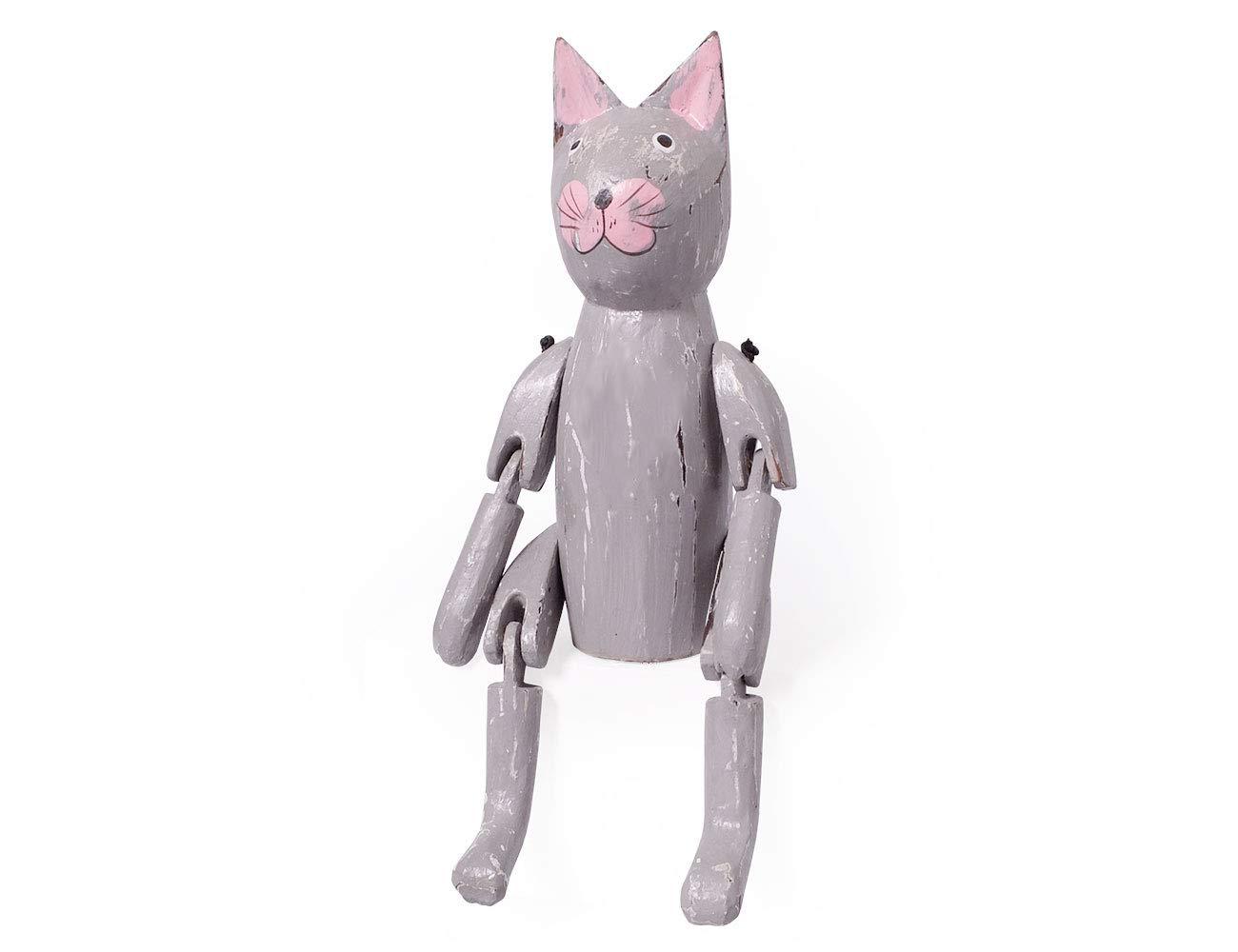 Amazon.de: kadoh Kantenhocker Katze 22 cm grau Dekofigur Holz
