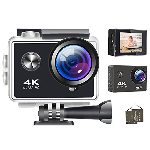 Digital Action Camera (Action Camera 4K Wifi Digital Cameras 16MP 1080P Ultra HD Video Camera Sports Outdoor Waterproof Underwater Photography Camcorders 170 Degree Wide Angle Lens DV Cam)