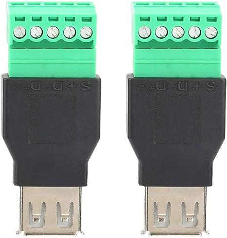 2 StÜcke Niederfrequenz Hohe Effizienz Quicklink Lötfreie Typ A Buchse Usb Terminal Adapter Konverter Beleuchtung