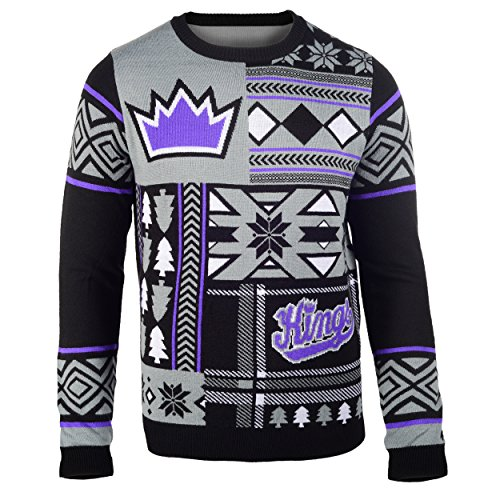 Sacramento Kings Patches Ugly Crew Neck Sweater - Team Nba Patch