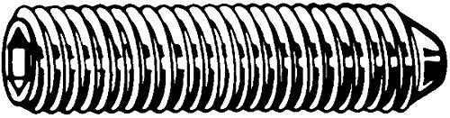 Vis sans tê te hexagonale creuse (STHC) 4 x 10 mm - DIN 914 - Acier brut - Bout pointeau outillage-francilien