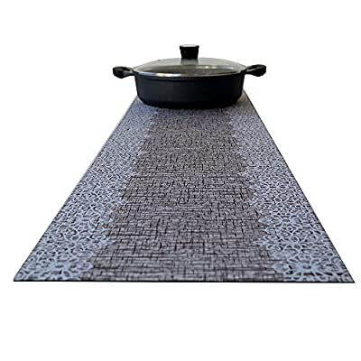 Hotrun Decorative Trivet and Kitchen Table Runners Handles Heat Up to 356F Anti Slip Hand Washable and Convenient for Hot Dishes and Pots (Wood & Lace) - TWO-IN-ONE. Both a table runner and pot trivet. Beauty and function all in one! PROTECTS SURFACES. Handles up to 356 degrees F-protects surfaces and furniture from heat, cold and liquids. QUALITY, ANTI-SLIP MATERIAL. Insulated natural polymer and polyester-once flattened, it stays put. - table-runners, kitchen-dining-room-table-linens, kitchen-dining-room - 51I%2Bi2hyp5L. SS400  -