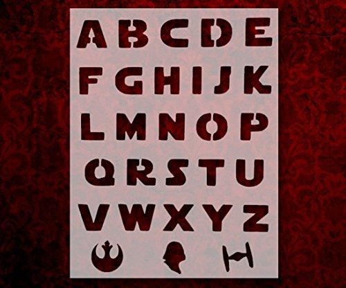 Star Wars Font Alphabet Letters Darth Vader 8.5