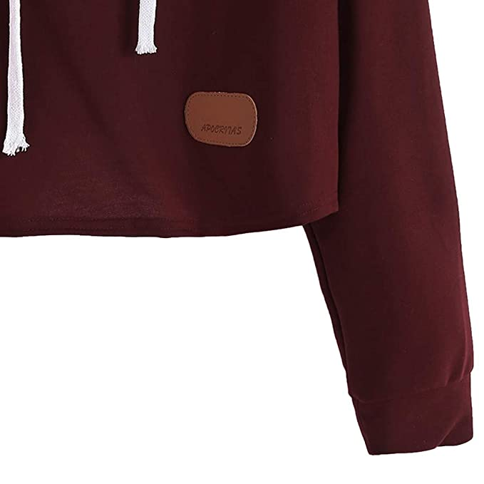 Amazon.com: Clearance Sale Gallity Womens Sweatshirt Long Sleeve Letter Print Patchwork Hooded Tops (M, Wine): Garden & Outdoor
