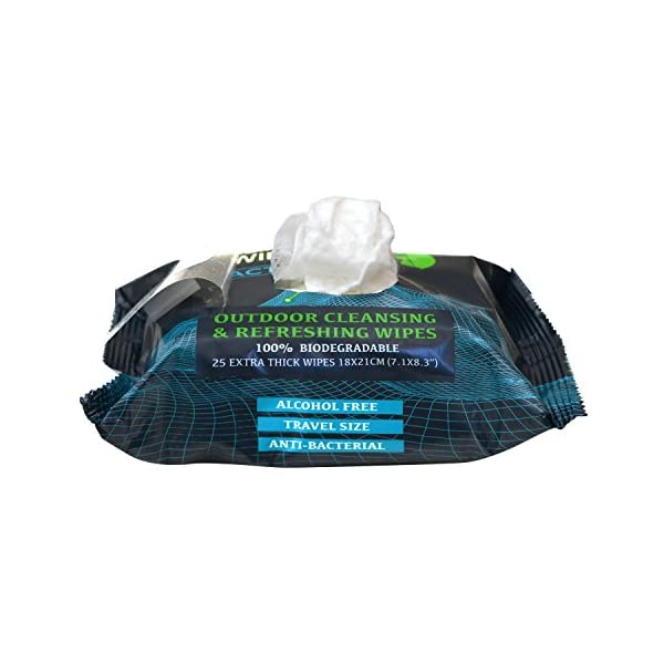 Combat-Wipes-ACTIVE-Outdoor-Wet-Wipes-Extra-Thick-Ultralight-Biodegradable-Body-Hand-CleansingRefreshing-Cloths-for-Camping-Travel-Gym-Backpacking-w-Natural-Aloe-Vitamin-E-25-Wipes-2