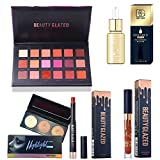 Beauty Glazed Eyeshadow Palettes Waterproof Eye Shadow Powder Make Up Palette Shimmers Mattes Highlighter Powder Lip Gloss Lipsick Set (18#02 I GOT YOU Set)